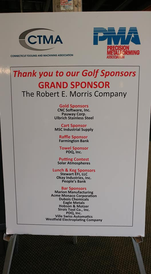 thank you sponsor board